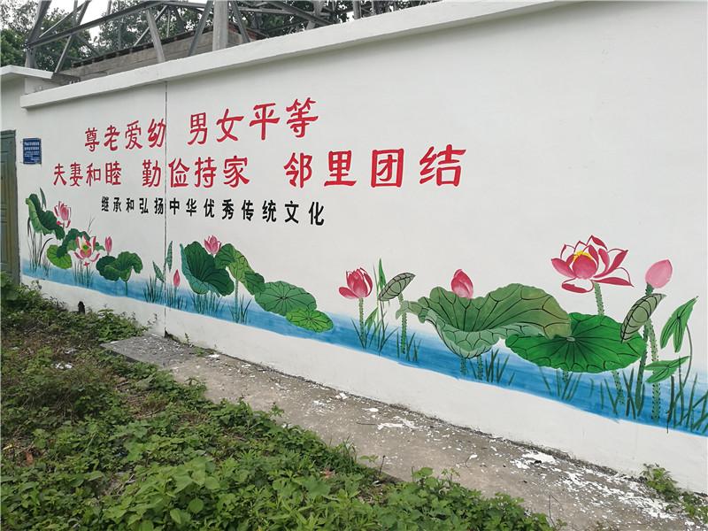 江心乡文化墙扮靓美丽乡村 图片来源:当涂县文明办